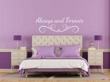 'Always and Forever' Wall Art Quote, Wall Art Sticker, Modern Transfer, PVC